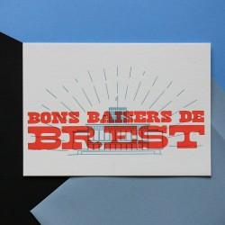 Carte Bons baisers de Brest...