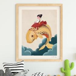 """Affiche """"Fish"""" série Songes..."""