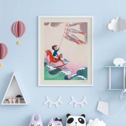 """Affiche """"Kite"""" série Songes..."""