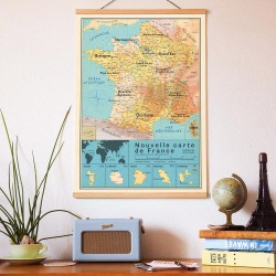 Affiche Carte France...