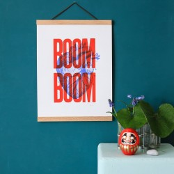 Affiche Boom Boom Rouge 30...