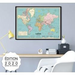 Affiche Carte du monde 2020...