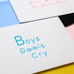 Carte Boys don't Cry -...