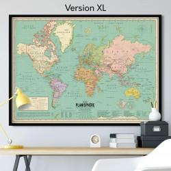 Affiche Carte du monde XL...