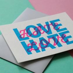 Carte Love/ Hate en...