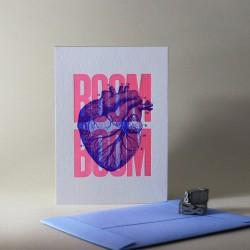 Carte Boom boom rose -...