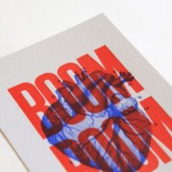 Carte Boom boom rouge -...